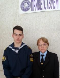Рустам Боднарь и научный руководитель его работы Ольга Скальская