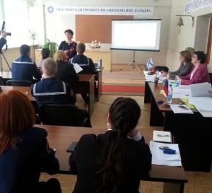 Участников и гостей конференции приветствовала директор Сахалинского высшего морского училища Любовь Захарина