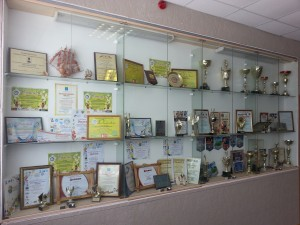 Коллекция спортивных наград Сахалинского высшего морского училища