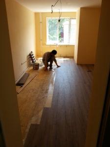 Заканчиваются работы по ремонту бытовых помещений